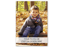 Fully Customizable Holiday Photo Cards, Vertical